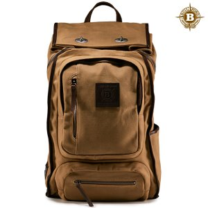 Roll Top Safari Backpack Brown