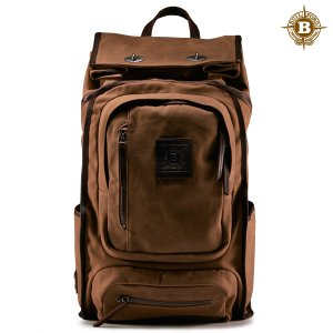 Roll Top Safari Backpack Brush Brown
