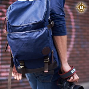 Basic Backpack Navy Grid