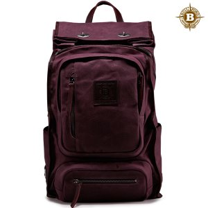 Roll Top Safari Backpack Burgundy