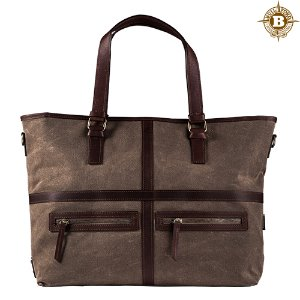 May Vintage Tote Bag Dark oak