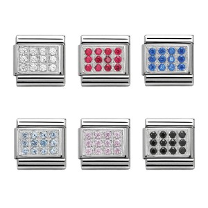 COMPOSABLE Classic PAVE in stainless steel, Cubic zirconia and 925 silver 330307 (택1)