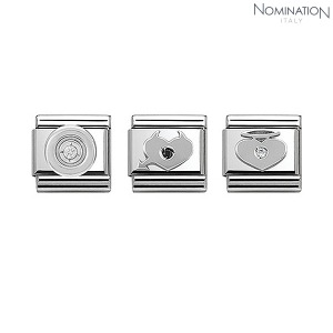 COMPOSABLE Classic SIMBOLS stainless steel, 1 cub. zirc and 925 silver 330303 (택1)