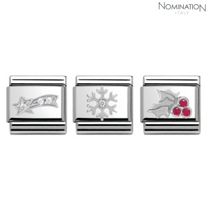 COMPOSABLE Classic CHRISTMAS stainless steel, enamel cubic zirconia and arg.925 330313 (택1)