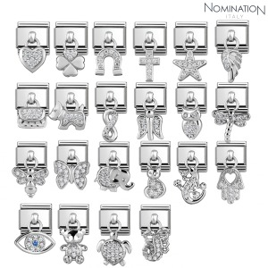 COMPOSABLE Classic CHARMS steel, silver cubic zirconia 331800 (택1)