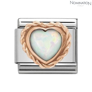 COMPOSABLE Classic STONES HEART stainless steel and 9k gold 430509 (택1)
