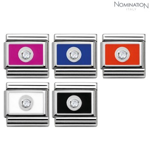 COMPOSABLE Classic PLATE steel, 1 Cub. Zircon. 925 silver and enamel 330315(택1)
