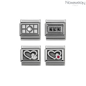COMPOSABLE Classic SYMBOLS 1 OXIDIZED in steel cubic zirconia and arg 925 330314 (택1)