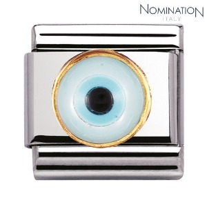 COMPOSABLE Classic GREEK EYE in stainless steel with 18k gold 030506 (택1)