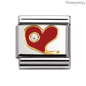 COMPOSABLE Classic SPECIAL stainless steel with 18k gold, enamel and Cubic Zirconia 030321 (택1)