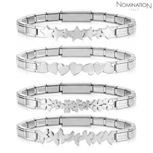 팔찌 TRENDSETTER (트렌드세터) bracelet in stainless steel with textures 021126(택1)
