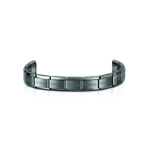 (단독구매불가) COMPOSABLE Classic Base Bracelet 13 Links (Gun) 030001/SI/002