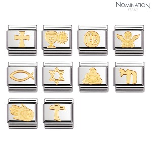 COMPOSABLE Classic RELIGIOUS in stainless steel and 18k gold 030105 (택1)