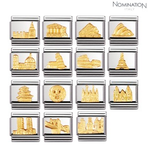 COMPOSABLE Classic RELIEF MONUMETS in stainless steel with 18k gold 030123 (택1)