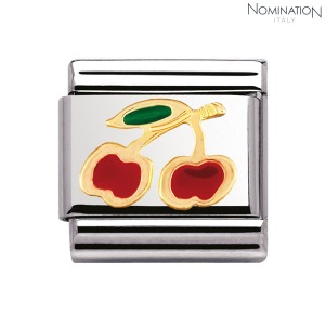 COMPOSABLE Classic FRUITS in stainless steel with enamel and 18k gold 030215 (택1)