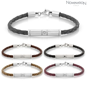 팔찌 TRIBE (트라이브) bracelet, leather and Swarovski Zirconia 026420(택1)