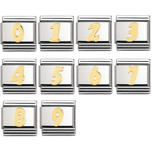 COMPOSABLE Classic NUMBERS in stainless steel with 18k gold (0~9) 030102 (택1)
