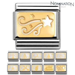 COMPOSABLE Classic ENGRAVED CHRISTMAS gold 18k 030160 (택1)