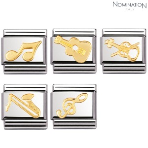 COMPOSABLE Classic MUSIC in stainless steel with 18k gold 030117 (택1)