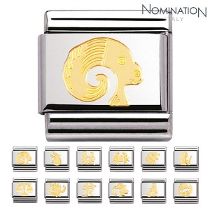 COMPOSABLE Classic ZODIAC in stainless steel with 18k gold 030104 (택1)
