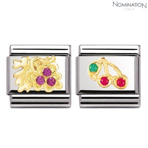 COMPOSABLE Classic FRUITS in stainless steel with 18k gold and Cubic Zirconia 030313 (택1)