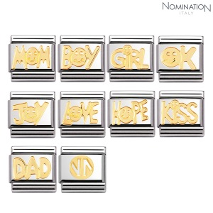 COMPOSABLE Classic WRITINGS in stainless steel with 18k gold 030107 (택1)