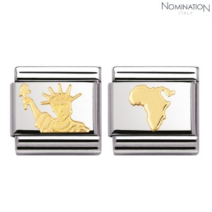 COMPOSABLE Classic GEOGRAPHIC SYMBOLS in stainless steel with 18k gold 030128 (택1)