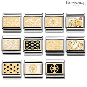 COMPOSABLE Classic LACE stainless steel, enamel and 18k gold 030281 (택1)