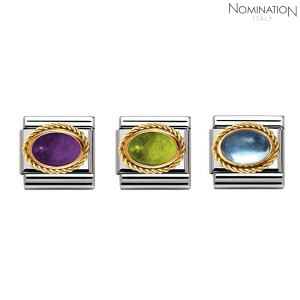 COMPOSABLE Classic SEMIPRECIOUS STONES in stainless steel with 18k gold setting and detail 030508 (택1)