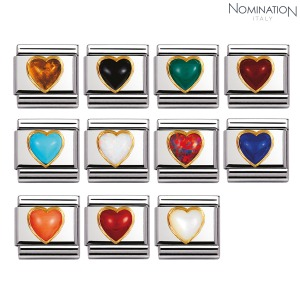 COMPOSABLE Classic STONES HEARTS in stainless steel with 18k gold 030501 (택1)