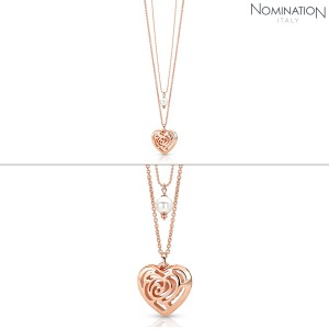 목걸이 ROSEBLUSH (로즈블러쉬) necklace in copper and brass with pearls (Double) (Rose Gold) 131404/011