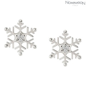 귀걸이 WINTERLAND (윈터랜드) Earrings 925 silver and CZ Lobo Snowflake 147205/010
