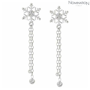 귀걸이 WINTERLAND (윈터랜드) Earrings 925 silver and CZ Long Snowflake 147206/010