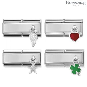 COMPOSABLE Classic DOUBLE link Silvershine enamel sterling silver 330780 (택1)