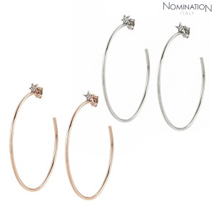 귀걸이 STELLA (스텔라) earrings 925 silver and cz with star (hoop) 146718(택1)