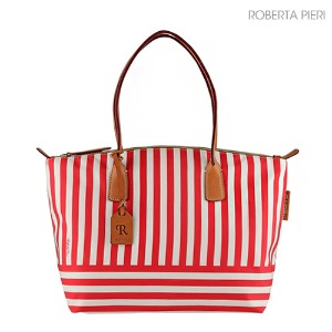 Stripe Large Tote Red