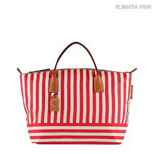 Stripe Large Duffle Red