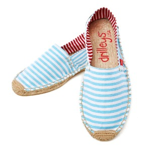 에스파듀 Chambray Blue Wide Stripe (여성)