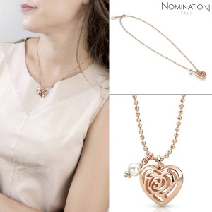 목걸이 ROSEBLUSH (로즈블러쉬) necklace in copper and brass with pearls (Small) (Rose Gold) 131402/011