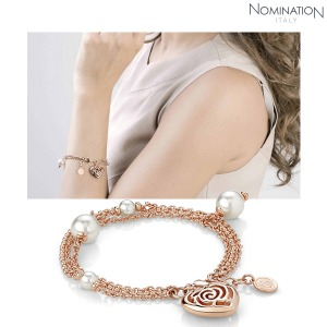 팔찌 ROSEBLUSH (로즈블러쉬) bracelet pearls (triple) (Rose Gold) 131401/011