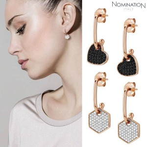 귀걸이 EMOZIONI (에모지오니) Earring sterling silver with cubic zirconia and 22K rose gold plated finish Small 147804(택1)