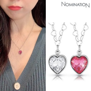 목걸이 LOVE CHIC (러브 시크) necklace and heart shaped Swarovski 043023(택1)