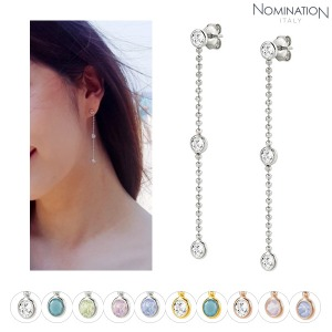 귀걸이 BELLA (벨라) BLOOM earrings silver and crystal (LONG) 146645(택1)