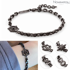 팔찌 ATLANTE (아틀란테) bracelet in stainless steel and black PVD Vintage effect finish 027501(택1)