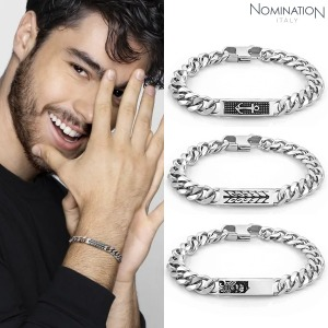 팔찌 INSTINCT MARINA (인스팅트 마리나) Stainless steel bracelet with vintage effect details and black crystal 027910(택1)